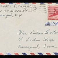 1946-02-06 Carroll Steinbeck to Evelyn Burton - Envelope