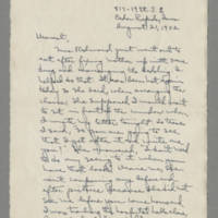 1942-08-21 Laura Davis to Lloyd Davis Page 1