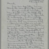 1943-02-13 Laura Davis to Lloyd Davis Page 1