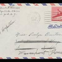1945-11-27 Carroll Steinbeck to Evelyn Burton - Envelope