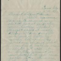 1918-06-10 Thomas Messenger to Mr. & Mrs. N.H. Messenger Page 1