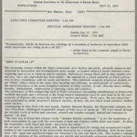 1970-05-14 Newsletter, Fort Madison Branch of the NAACP Page 1