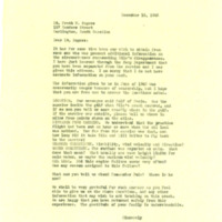 Nile Kinnick Sr. correspondence regarding his son's fatal crash, 1945-1946