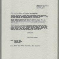 1964-08-06 Correspondence from Mrs. James Schramm