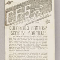 CFS Review, v. 1, issue 1, October 1940