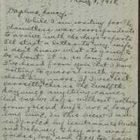 Conger Reynolds correspondence, May 1918