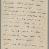 1943-11-18 Lloyd Davis to Laura Davis Page 1