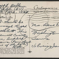 1945-05-31 Sgt. Delbert L. Badham to Dave Elder Postcard