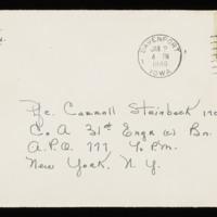1945-12-30 Evelyn Burton to Carroll Steinbeck - Envelope