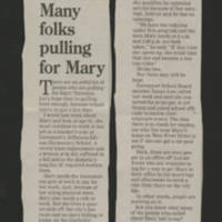 "2002-08-19 Quad City Times Article: """"Many folks pulling for Mary"""""