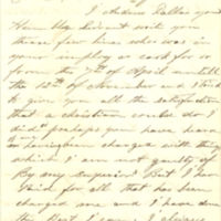 Andrew Dallas letter to Thomas C. Durant, 1866