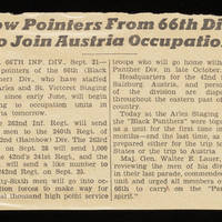 Article: 'Low Pointers From 66th Div. To Join Austrian Occupation