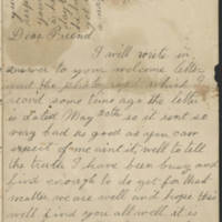 1898-07-25 Letter from Rilla Page 1