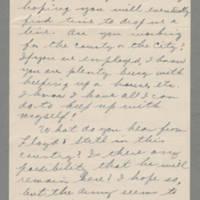 1943-03-07 Bess Hutchison to Laura Frances Davis Page 1
