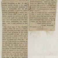 "1918-04-03 Clipping: """"Letters From Our Soldiers"""" by Conger Reynolds"