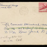 1945-10-09 Evelyn Burton to Carroll Steinbeck - Envelope