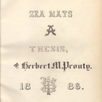 Zea Mays by Herbert M. Prouty, 1886, Page 1