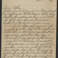 Harvey W. Wertz correspondence, 1918-1919