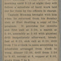 "Clipping"""" Fort Snelling Life To Be No Vacation"""" Page 1"