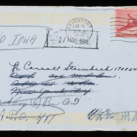 1946-02-20 Evelyn Burton to Carroll Steinbeck - Envelope