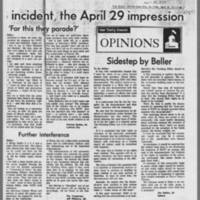 "1970-04-29 Daily Iowan Article: """"ROTC--the April 18 incident, the April 29 impression"""" Page 2"