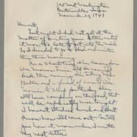 1941-11-20 Laura Davis to Lloyd Davis Page 1