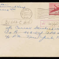 1945-10-06 Evelyn Burton to Carroll Steinbeck - Envelope
