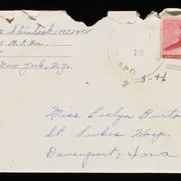 1946-02-08 Carroll Steinbeck to Evelyn Burton - Envelope
