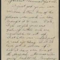 1918-01-15 Thomas Messenger to Mr. & Mrs. N.H. Messenger Page 1
