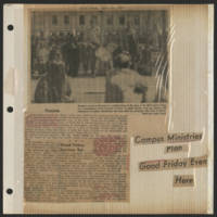 1971-04-10 Daily Iowan Article: 'Campus Ministries Plan Good Friday Event Here'