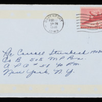 1946-02-16 Evelyn Burton to Carroll Steinbeck - Envelope
