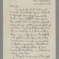 1942-11-29 Laura Davis to Lloyd Davis Page 1