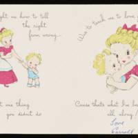 Birthday Card From Carroll Steinbeck to Vira Steinbeck