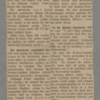 1972-04-13 Article: 'Hearing on 2 UI Groups Over, No Action Taken Page 1