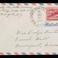 1945-12-25 Carroll Steinbeck to Evelyn Burton - Envelope