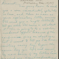 1917-12-19 Daphne Goodenough to Conger Reynolds Page 1