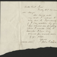 Ellen Mowrer Miller letters to William John, 1864