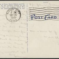 1942.10-26 Postcard - back