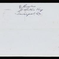 1946-01-20 Evelyn Burton to Carroll Steinbeck - Envelope back