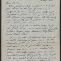 1945-05-19 Pvt. Hal Longer to Dave Elder Page 1
