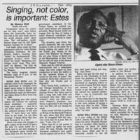 """""Singing, not color, is important: Estes"""""