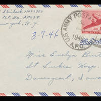 1946-03-09 Carroll Steinbeck to Evelyn Burton Envelope