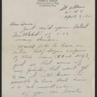 1945-04-03 Bob Shields to Dave Elder Page 1