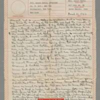 1943-03-31 Laura Davis to Lloyd Davis Page 1