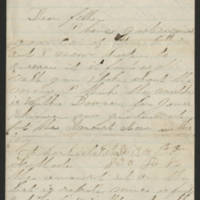 1863-02-14 Charles A. Gates to Mr. Arad Gates Page 1