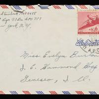 1945-11-07 Carroll Steinbeck to Evelyn Burton - Envelope