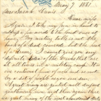 Andrew F. Davis papers, May-December 1861
