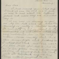1945-04-03 Pfc. Roger Banks to Dave Elder Page 1