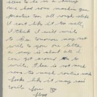 1942-08-11 Lloyd Davis to Laura Davis Page 2
