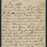 1862-11-10 Charles A. Gates to Mr. Arad Gates Page 1